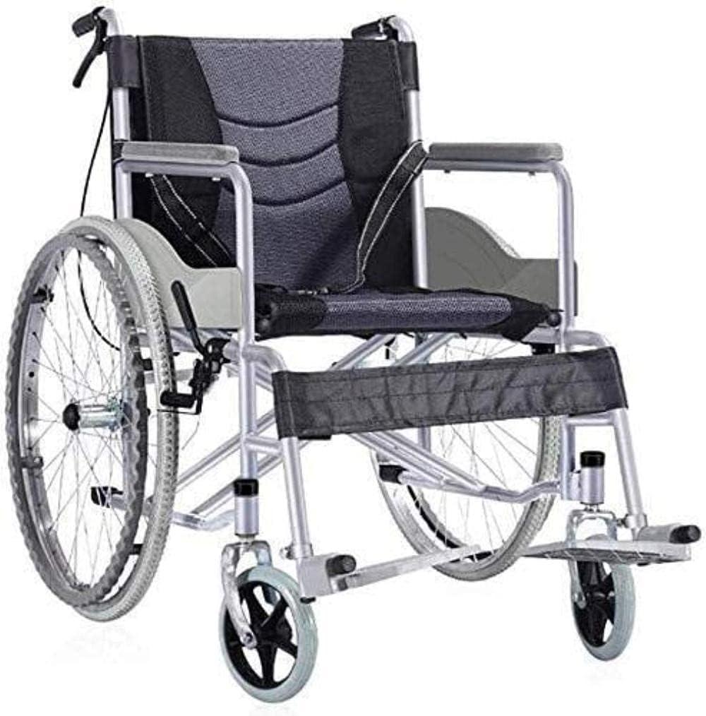 LIUYULONG Silla de Ruedas Brazo Largo Plegable portátil y Columpio de la Pierna de la Pata de la Pierna de la Pata de la Pierna con discapacidades Silla de Viaje
