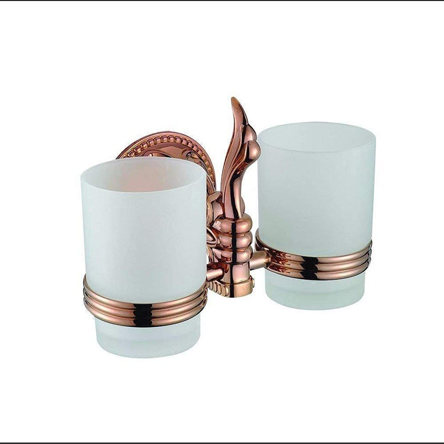 The Basis of The Pink gold Continental Carved Click Double Pole Toilet Paper Soap Box Click on Double Rack Kit Accessories of Bathroom, Double Cup Cup