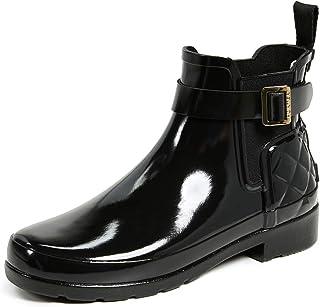 ec31b455 Hunter Original Refined Gloss Quilt Chelsea Black WFS1032RGL BLK, botas de  agua color negro