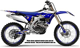 Compatible with Yamaha 1998-2002 YZ 250F/400F/426F (4-Stroke), Velocity Blue Graphics Kit