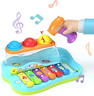 HOLA Hammering Pounding Toys Educational Ball Pound and Tap Bench Toy Xylophone, Birthday Gift for 1 2 3+ Years Boy Girl B...