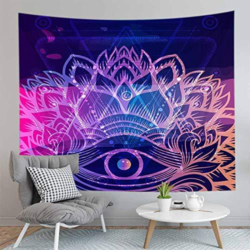 PPOU Mandala Decke Indische Wandbehang Wandteppich Böhmische Yoga Teppich Matte Home Decor Hintergrund Stoff Wandteppich A9 130x150cm