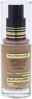 Max Factor Miracle Match Blur & Nour Foundation, Beige 55