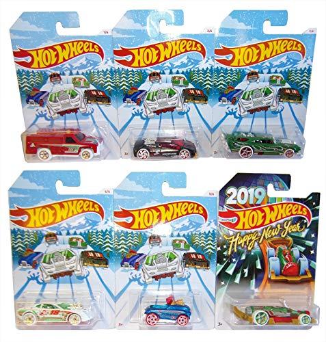 Hot Wheels Mattel Holiday Hot Rood 6 Pack Invierno 2018 Autos Modelo para niños y coleccionistas