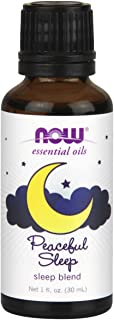 NOW Essential Oils, Peaceful Sleep Oil Blend, Relaxing Aromatherapy Scent, Blend of Pure Essential Oils, Vegan, 1-Ounce