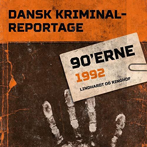 『Dansk Kriminalreportage 1992』のカバーアート