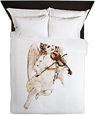 Truly Teague Queen Duvet Cover Little Vintage Angel Playing Violin