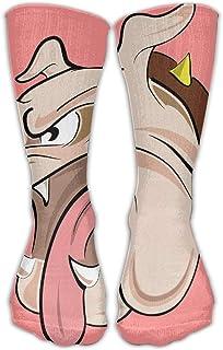 Bigtige, Feroz Bulldog Francés Rosa Clásicos Calcetines personalizados Sport Athletic Medias 50cm Calcetín largo para Hombres Mujeres