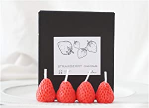 Candles 4pcs/Box Fruit Candle Scented Candle Valentine Day Gift Party Ornament Home Decoration Strawberry Candles (Color : 1)