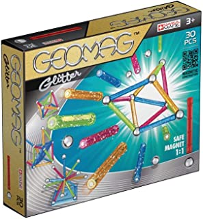 comprar comparacion Geomag Classic Glitter Construcciones magnéticas y juegos educativos, 30 piezas (531), Multicolor