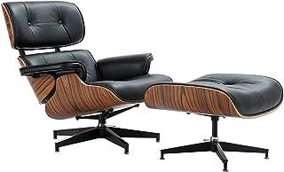 X-LSWAB Las sillas sillón con reposapiés exploradoras for la Sala de la Nuez de Madera de imitación de Cuero Oficina Dormitorio Heavy Duty Base de Apoyo for la Sala de recepción Salón Sala de Espera