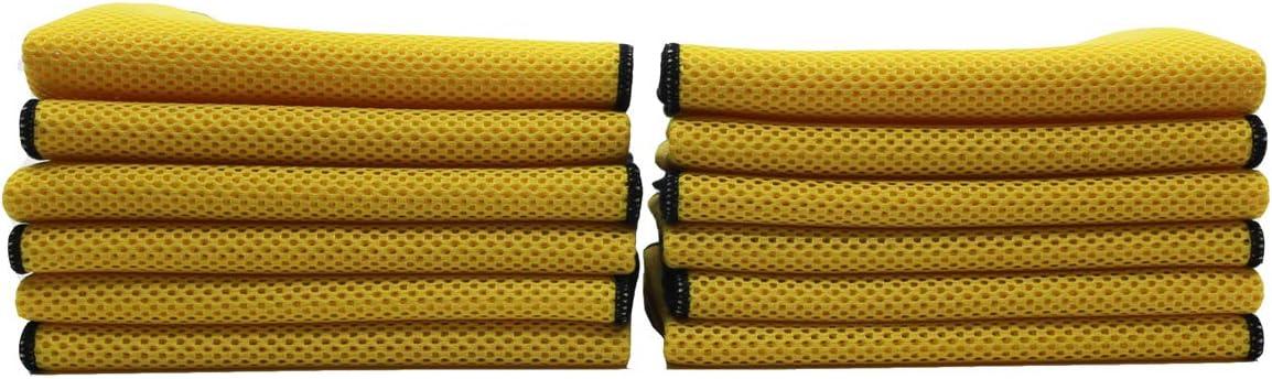 """Scrub Master Sr."" - Cobra 16x16 Yellow Microfiber Mes"