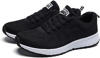 Zapatillas De Deportivos De Mujer Para Correr De Malla Transpirable Ligero Fitness Plataforma Sneakers Con Cordones Calzad...