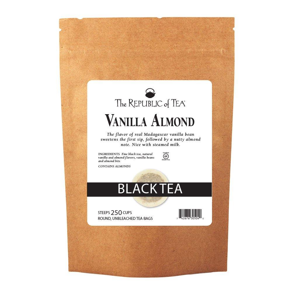 The Republic Of Tea Vanilla 100% quality warranty! Bags Black Almond 250 Uniq NEW
