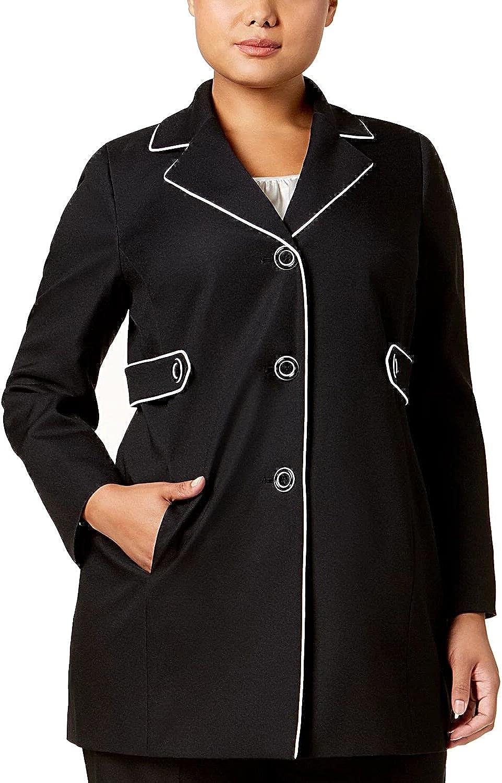 Le Suit Women's Plus Size Crepe 3 Button Pant Suit