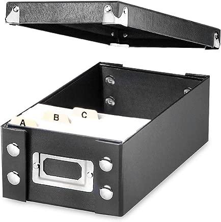 Snap-N-Store 3x5 Index Card Box, Black (SNS01573)