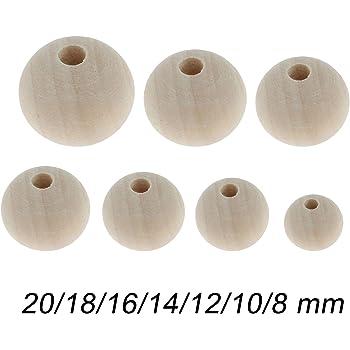 Efco bolas de madera sin Tratar con Agujero de 12 mm Ø 3 mm 45 piezas