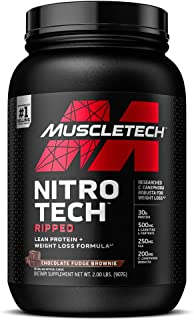 Protein Powder for Weight Loss   MuscleTech Nitro-Tech Ripped   Whey Protein Powder + Weight Loss Formula   Lose Weight   ...