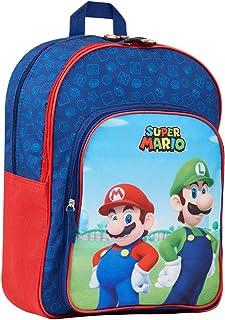Super Mario Mochilas Escolares, Mochila Niño con Mario Bros y Luigi, Mochila Infantil para Colegio Deporte Viajes, Regalos...