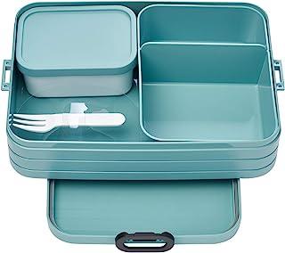 Mepal Bento-lunchbox Take A Break Nordic Green Large – broodtrommel met vakken, geschikt voor maximaal 8 boterhammen, TPE/...