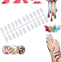 Xiton 24 Consejos/Pack Carta De Colores De UñAs Arte De UñAs PráCtica Consejos De UñAs Falsas Profesional Gel De UñAs Polaco Tablero De VisualizacióN Herramientas De SalóN De UñAs(Blanco)