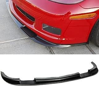 VXMOTRO for 05-13 Chevrolet Corvette C6 Z06 ZR1 Style, ABS Front Lip Kit Splitter Bumper 2005 2006 2007 2008 2009 2010 2011 2012 2013