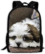 Dog Noddy Lhasa Apso Fashion Outdoor Shoulders Bag Durable Travel Camping Backpack For Adult