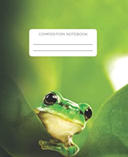 Composition Notebook: Inquisitive Frog School Exercise Journal with Wide Ruled Paper for Middle, Elementary, High School a...