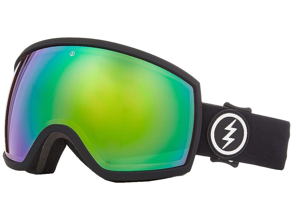 Electric Eyewear EGG (Matte Black Brose/Green Chrome) Athletic Performance Sport Sunglasses