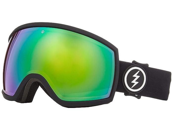 EGG (Matte Black Brose/Green Chrome) Athletic Performance Sport Sunglasses