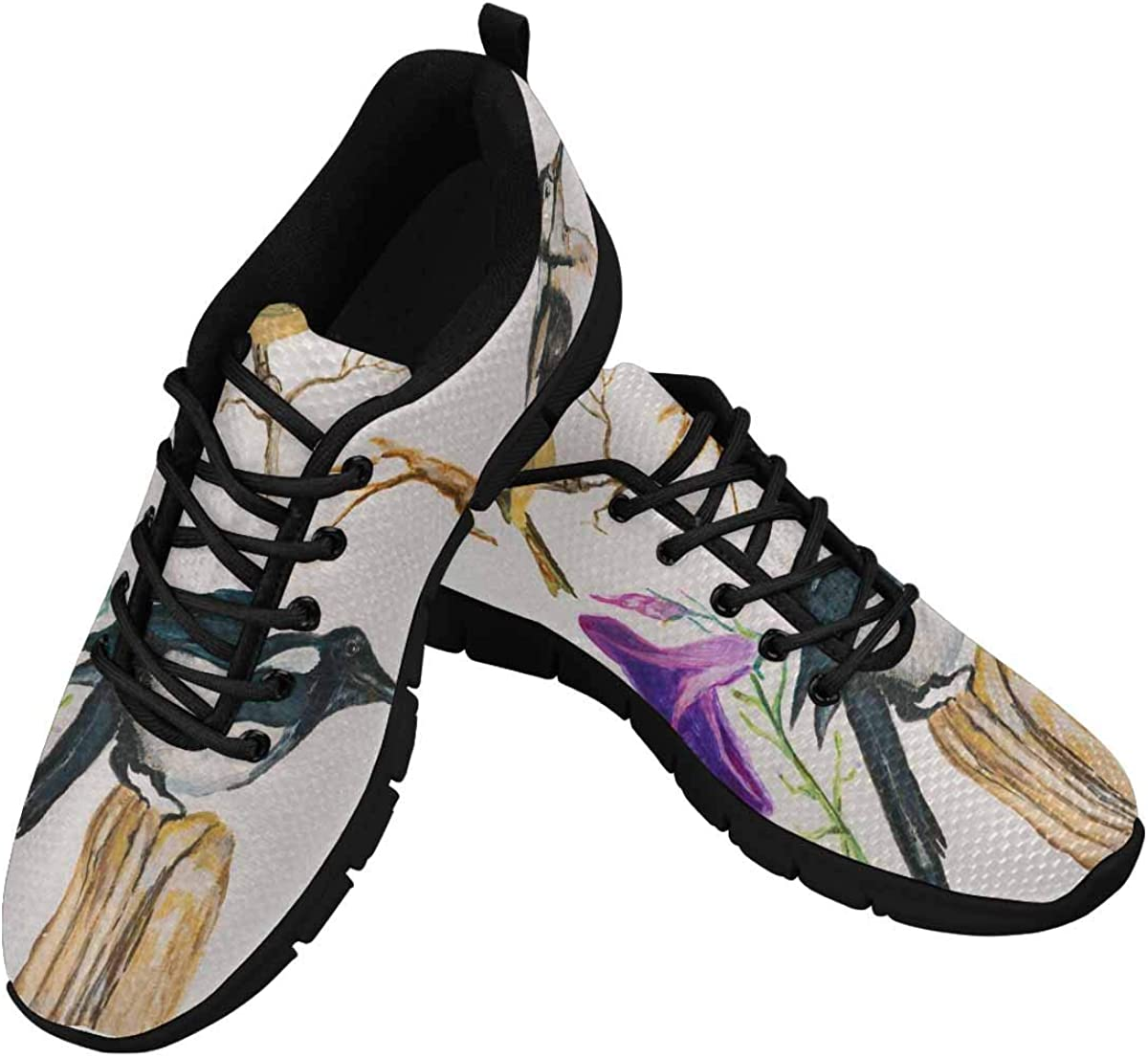 INTERESTPRINT Collection of Painted Birds Women's Walking Shoes Lightweight Casual Running Sneakers