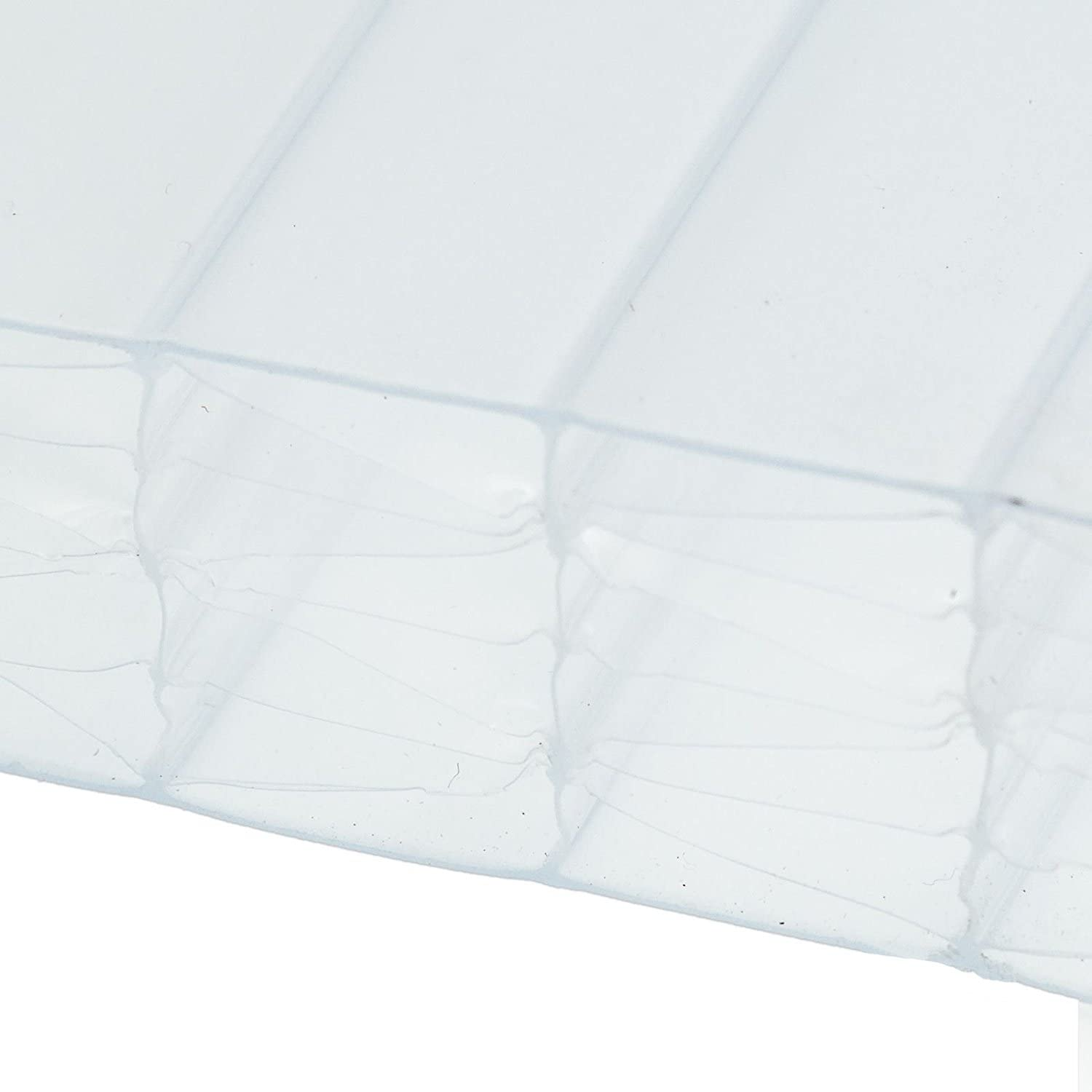Opal, 1 x 1.5m (Width x Length) 25mm Multiwall Polycarbonate Sheets Poly Plastic Roof Panel for Leanto Canopy Conservatory