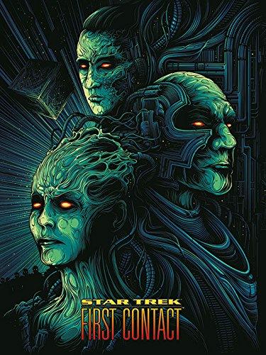 Star Trek Primer Contacto–50th Aniversario 60x 80cm Lienzo impresión, Multicolor