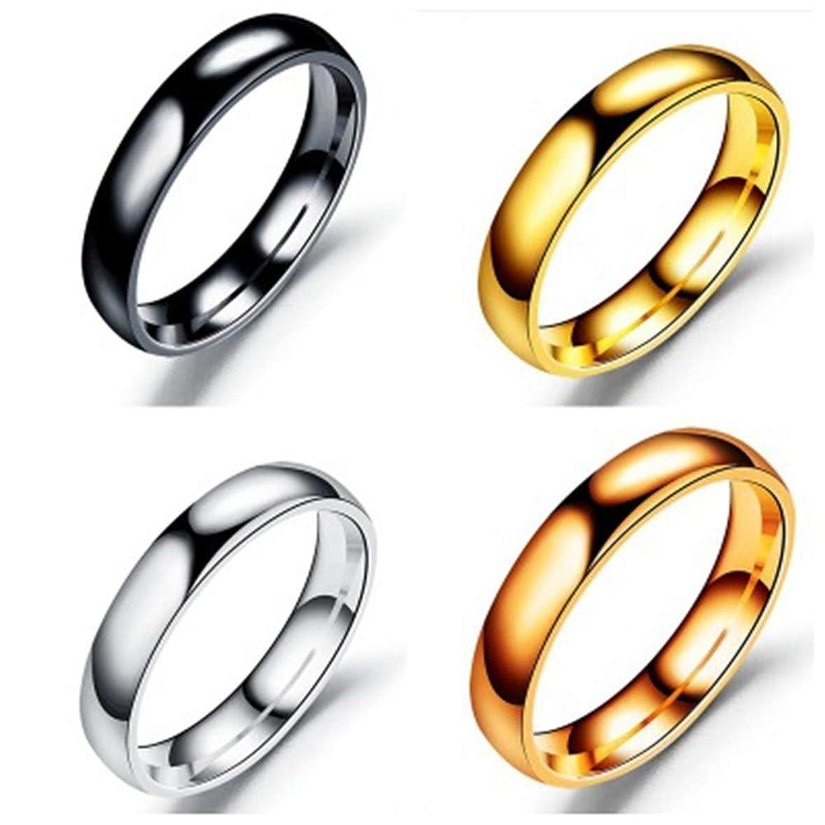 のぞき穴動かないインカ帝国4点セット売り 肌に優しい サージカルステンレス リング カップル ペアリング メンズ リング レディース リング 婚約指輪 結婚指輪 3-5点セット売り 16スタイル 9-25号揃え (3, 18)