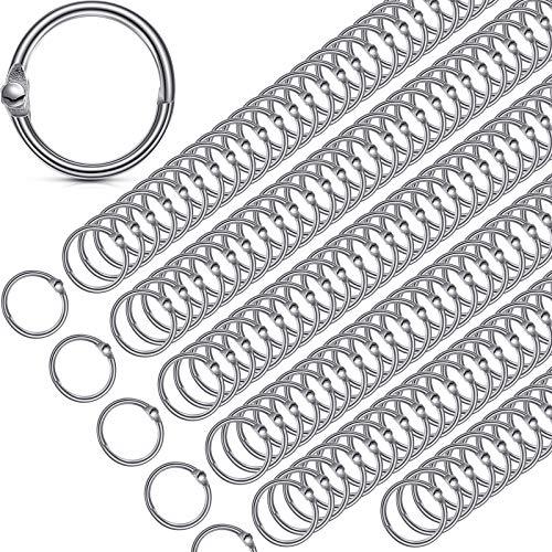 3/4 Inch Book Rings Loose Leaf Binder Rings, Small Nickel Plated Steel Binder Rings, Key Rings, Metal Book Rings for Office School (200 Packs)