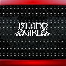 Noizy Graphics Island Girl Hawaiian Hibiscus Flower Cute Car Sticker Truck Window Vinyl Decal Color: Copper
