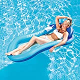 AWESMR Water Floating Hammock Pool Float, Swimming Pool Inflatable Floating Bed & Floating Chair, Water Sofa, Beach Mat for Adult Outdoor Swimming (Blue)