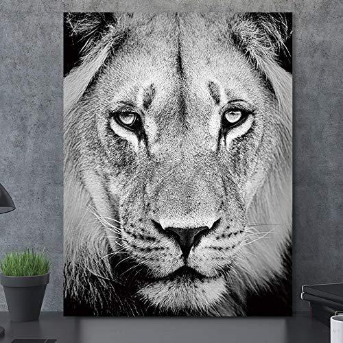 Hauptdekoration HD Tier Leinwand Wandkunst Malerei Tiger Löwe Poster Hirsch Druck,Rahmenlose Malerei-40X53cm