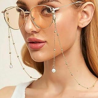 Bohend Mode Femmes Chaîne de lunettes Or Perles Chaîne de masque facial perle Femmes Chaîne de lunettes de soleil Accessoi...