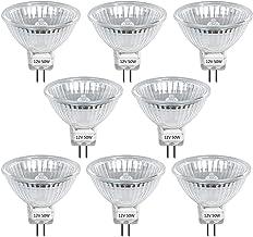 Klarlight 8 stuks DC 12 V MR16 GU5.3 50 W halogeen reflector lamp warm wit 2800 K dimbaar laagspanning bi-pin spot gloeila...
