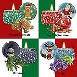 WeiLi Weihnachts-Duftkerzen-Geschenkset Damen-Duft-Therapiekerze Stress abbauen, große Dosen Sojakerzen nachrüsten, Lave duften