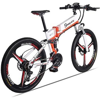 Shengmilo Bicicleta de montaña eléctrica Plegable Ebike 26 ...