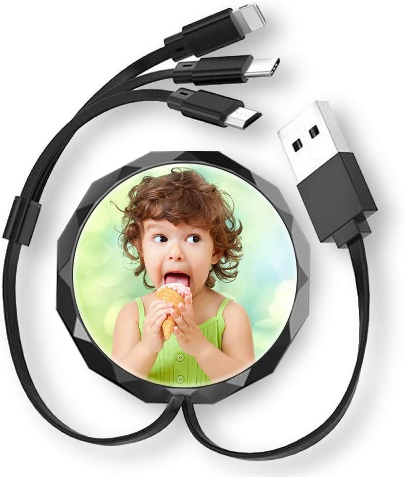 SHUMEI Custom Photo Multi USB Charger Cable in 4ft Ranking TOP11 Retractable SALENEW very popular 3