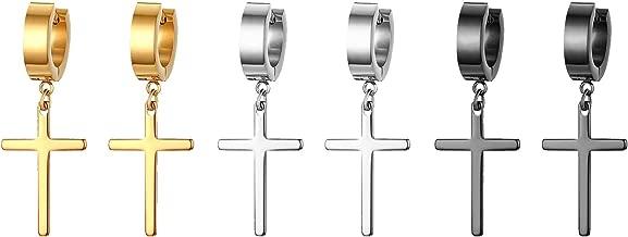 SimpleLife Pendiente de Gota Elegante Cruz Boho Mujer Dama Rhinestone Cuelga Gota Rhinestone Ear Stud Earring
