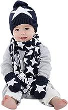 Happy Cherry 3PCS Baby Toddler Kids Crochet Beanie Knitted Cap Scarf Gloves Set