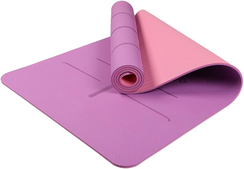 AILI Rechteckige doppelseitige Yogamatte, verlngertes Anti-Rutsch-Training, Fitnesskissen, Polster-Yogamatte