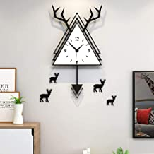 Wall Clock - Acrylic/Metal Pointer/Personality/Home/Clock, Antlers Fashion Wall Clock Living Room Bedroom Creative Mute Cl...