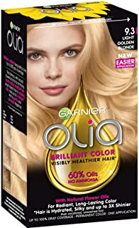 Garnier Olia Ammonia-Free Brilliant Color Oil-Rich Permanent Hair Color, 9.3 Light Golden Blonde (1 Kit) Blonde Hair Dye