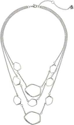 Multi Row Pave Necklace 16""