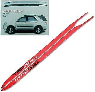 Powerwarauto Sticker Badge TRD SPORTIVO Trim Red For Toyota Fortuner Suv 2010 2014
